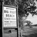 United States, sign for Big Foot Beach State Park in Lake Geneva