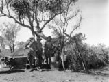 Western Australia (Australia), men at wireless outfit camp dining quarters