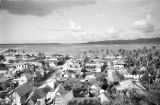Guam, view of village along waterfront