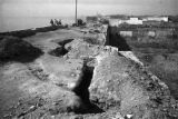Changde (China), the bombed ruins of the city wall after the Battle of Changde