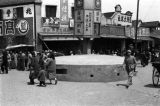 Chongqing (China), a pillbox bunker in the center of a business district