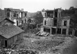 Chongqing (China), ruins of buildings bombed by the Japanese