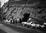 Chongqing (China), tannery relocated to a cliffside dugout to avoid bombing raids