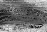 Fushun (China), view of open-cut coal mine