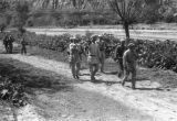 Yanan (China), Eighth Route Army soldiers walking on path