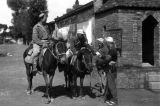 Yanan (China), Harrison Forman and Eighth Route Army soldier on horseback