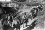 Yanan (China), Eighth Route Army soldiers carrying supplies on path