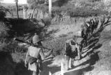 Yan'an (China), Eighth Route Army soldiers carrying supplies on path