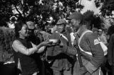 Yanan (China), woman handing bowl of water to Eighth Route Army soldier