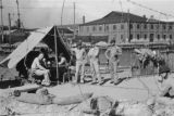 Shanghai (China), United States Marines encamped on riverfront