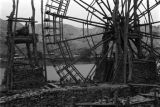 Lanzhou (China), water wheel on bank of Yellow River