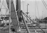 Shanghai (China), close-up detail of British passenger ship S.S. Shuntien