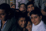 Tehran (Iran), group of boys posing  for camera