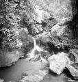 Los Baños (Philippines), waterfall above natural swimming pool