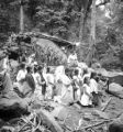Quezon province (Philippines), people holding Mass at a spring