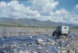 Syria, jeep crossing through shallow water