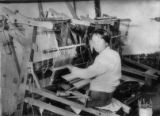 China, weaving loom and operator
