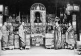 China, Buddhist shrine and monks
