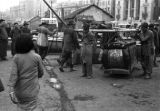 Shanghai (China), men carrying the coffin of a casualty of the Chinese Civil War