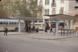 Syria, people waiting at a bus station