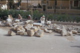 Damascus (Syria), people cutting stones