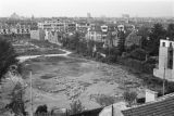 Shanghai (China), aerial view of empty lot surrounded by buildings