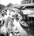 Bangkok (Thailand), busy city market on canal