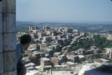 Syria, panoramic view of rural town