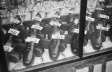 Chongqing (China), shoes displayed in store window