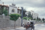 Syria, horse-drawn carriage on a city street