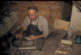 Damascus (Syria), craftsman working with wood