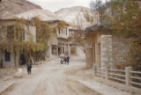 Syria, road leading up to a village