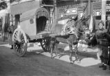 Xinjiang Uygur Zizhiqu (China), horse drawn carriage in Northwest China