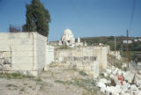 Syria, cemetery with a mausoleum in the middle
