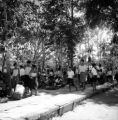 Chanthaburi Changwat (Thailand), group of people at a wat