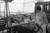 Shanghai (China), Sandra Forman and other evacuees on boat deck