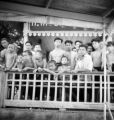 Suphan Buri Changwat (Thailand), group of men and boys at boat landing