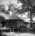 Suphan Buri Changwat (Thailand), village huts and children