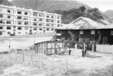 Hong Kong (China), construction in lot with modern building in background