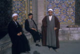 Tehran (Iran), men in front of Shahid Motahari (Sepahsalar) Mosque