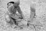 Malaysia, Gurkha trooper his gun during Malayan Emergency