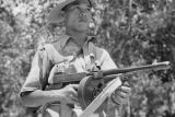 Malaysia, Malay trooper with Tommy gun during Malayan Emergency