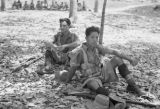 Malaysia, soldiers resting in the jungle during the Malayan Emergency