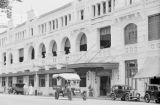 Singapore, view of entrance to the Adelphi Hotel