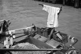 Hong Kong (China), laundry hanging on sampan