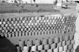 Gansu province (China), stacked fired clay pots