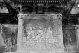 Korea, bas-relief of three seated Buddhas