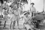 Singapore, Hong Kong and Singapore Royal Artillery men operating anti-aircraft gun