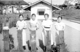 Philippines, four women in Los Banos