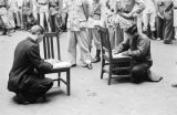 China, condemned men writing wills before their execution in Shanghai
